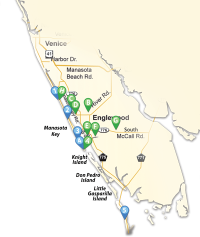 Map of Englewood Beaches and Parks