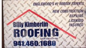 Website of Billy Kimberlin Roofing, Inc.
