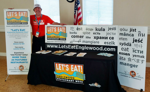 Let's Eat Chamber of Commerce Display