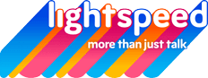 lightspeed logo - more than just talk