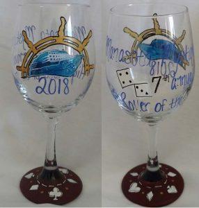 Manasota Mystique hand painted wine glasses