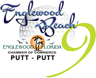 Englewood Beach 9 Putt Putt logo with Englewood Chamber logo