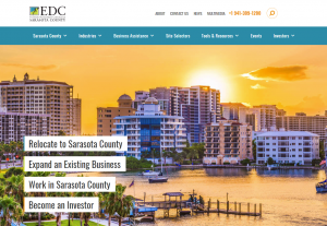 Website of Economic Development Corporation of Sarasota County