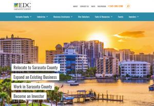 Website of Economic Development Corporation of Sarasota County
