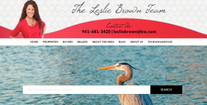 Website of Keller Williams Realty Gold - The Leslie Brown Team