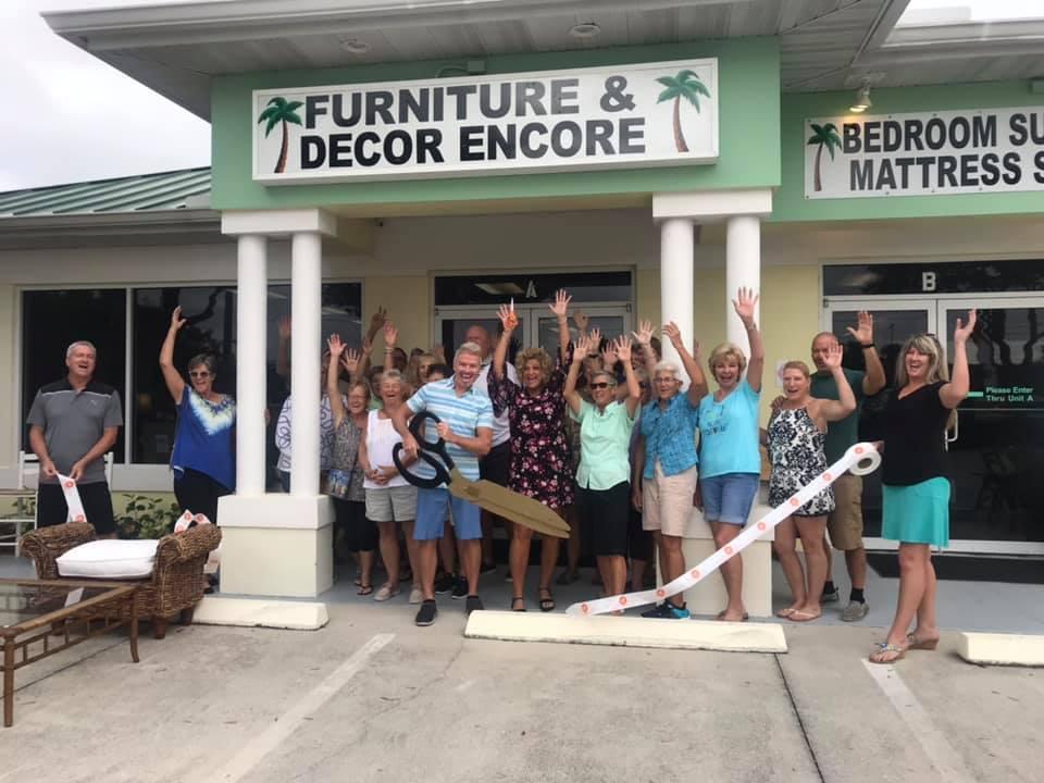 Furniture and Decor Encore ribbon cutting