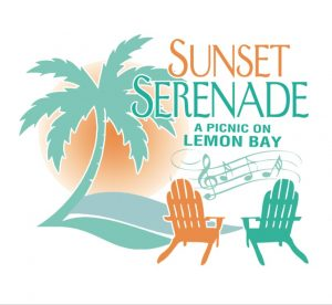 Sunset Serenade logo with tagline: A Picnic on Lemon Bay