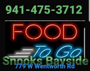 Website of Snook's Bayside Restaurant & Tiki Bar