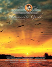 Community Guide Cover showing birds flying through sunset
