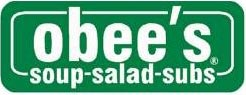 Obee's soup salad subs