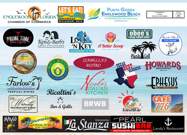 Logo Collage of Participating Let's Eat Englewood Restaurants