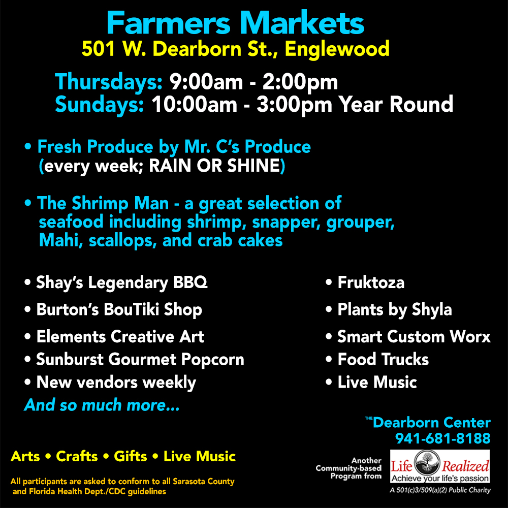 RAIN OR SHINE – Farmers Market, Sundays – All Year Round