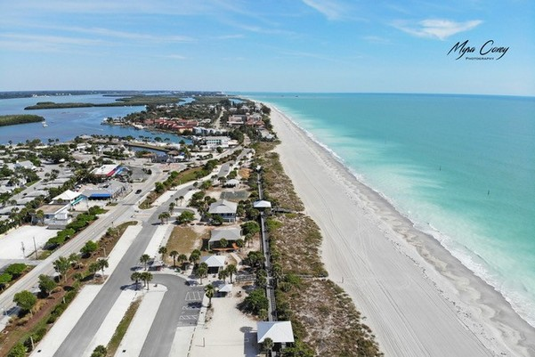 Aerial view of Englewood Beach