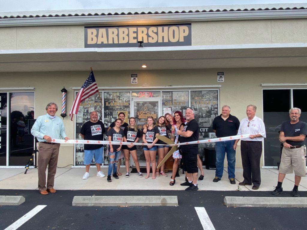 Wiseguys Barbershop ribbon cutting