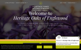 Website of Heritage Oaks Assisted Living & Memory Care