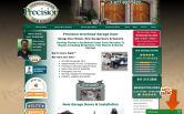 Website of Precision Overhead Garage Door