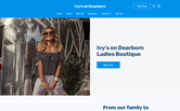 Website of Ivy's on Dearborn, A Ladies Boutique