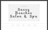 Website of Sassy Beaches Salon & Spa