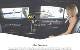 Website of A&F Shuttle Transportation with Class