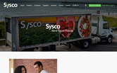 Website of Sysco Corporation