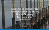 Website of Eisenberger Home Watch/Property Mgmt/Home Services