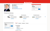 Website of State Farm Insurance, Mike Martin Agent