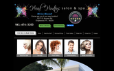 Website of Head Hunters Salon & Spa