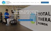 Website of Total Therapy Florida Englewood
