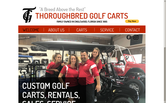 Website of Thoroughbred Golf Carts