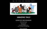 Website of Amazing Tails Doggie Day Care & Boarding