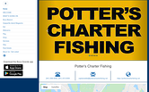 Website of Potter's Charter Fishing