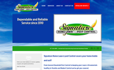 Website of Signature Home Lawn & Pest Control