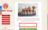 Website of A Better Scoop Ice Cream