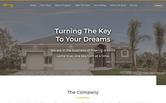 Website of Turn Key Custom Homes