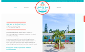 Website of Just U Sea Vacation Rentals