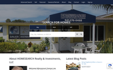 Website of HOMESEARCH Realty & Investments, LLC