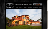 Website of MVM Custom Homes, Inc.