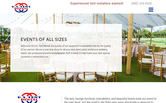 Website of U.S. Tent Rental, Inc.