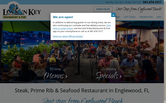 Website of Lock N' Key Restaurant & Pub