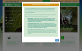 Website of Oak Farms Nursery, Inc.