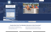 Website of Freedom Boat Club