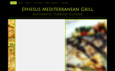 Website of Ephesus Mediterranean Grill
