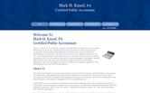 Website of Mark H. Knauf, CPA, PA