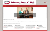 Website of Mercier CPA Associates, PA