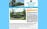Website of Heron Cove Apartments