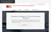 Website of Hinck Private Wealth Management