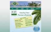 Website of Pope Insurance