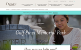 Website of Gulf Pines Memorial Park